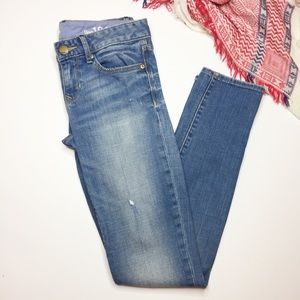 GAP Always Skinny jeans light wash distressed 26